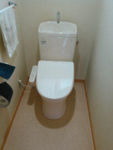 新しく交換したトイレ