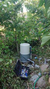 修理後の井戸ポンプ