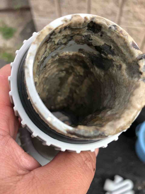 排水管が汚れている