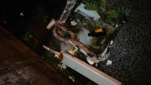 破損してしまった屋外の水栓柱