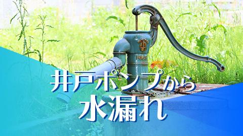 井戸ポンプからの水漏れ