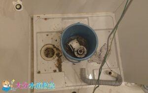 洗濯排水つまり修理 つまった汚れを高圧ポンプで押し流し!【大分市田中町の事例】