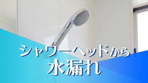 ジャワーヘッドから水漏れ